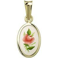 Červená růže medailonek miniatura
