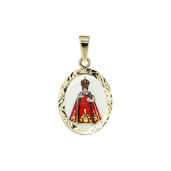 185 red Holy Child of Prague Medallion