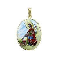 Medailon svatého Floriána patrona hasičů