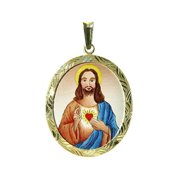 399R Sacred Heart of Jesus Medal blue