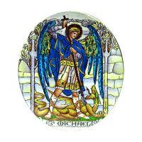 Polotovar 304-305 Archandělé Uriel / Michael oboustranně malovaný