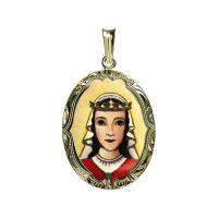 Svatá Zdislava z Lemberka gravírovaný medailon