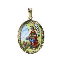 Svatý Florián z Lorchu medailon