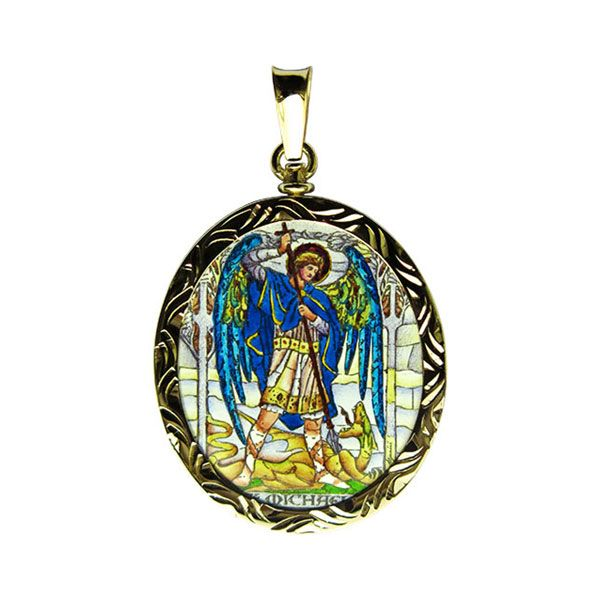 304-305R Archangels medallion side A Michael