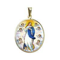 Madonka Nanebevzetí Panny Marie s anděly