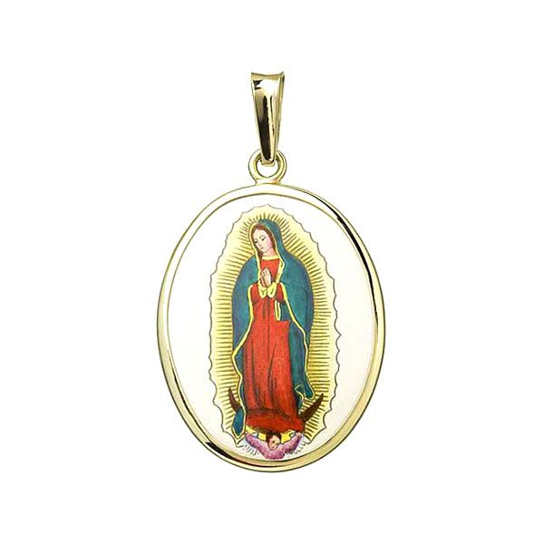 Panna Maria Guadalupská velký medailonek zlato přívěšek Aljančič