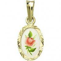 Červená růže medailon miniatura