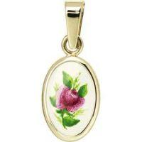 Fialová růže medailonek miniatura