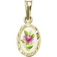 Fialová růže medailon miniatura