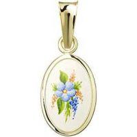 Květinový motiv medailonek miniatura