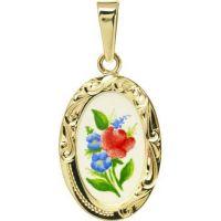Květinový motiv medailon