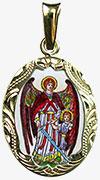 Archanděl Rafael medailon patron nevidomých a zdravotních sester