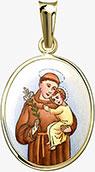 Svatý Antonín Paduánský zlatý přívěšek
