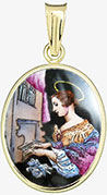 Svatá Cecilie patronka hudebníků madonka