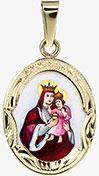 Svatá Anna gravírovaný medailon