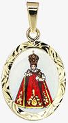 Pražské Jezulátko v červených šatečkách madonka