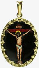 Medailon Ukřižování Ježíše Krista