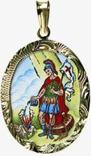 Svatý Florián patron hasičů madonka