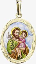 Přívěšek svatý Josef patron řemeslníků, ochránce při pokušeních i v zoufalých situacích