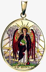 Archanděl Uriel medailon