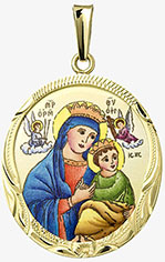 Panna Maria Pomocná medailon