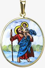Svatý Kryštof patron cestovatelů madonka
