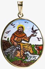 František z Assisi madonka