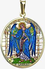 Archanděl Gabriel medailon