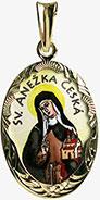 Svatá Anežka Česká madonka