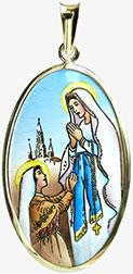 Svatá Bernadeta Lurdská madonka